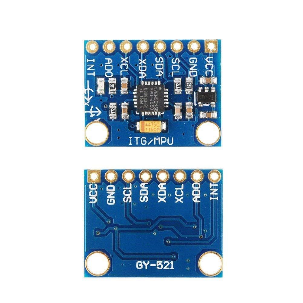 GY-521 MPU-6050 MPU6050 Sensor Module 3 Axis Gyroscope Accelerometer Sensor  Module