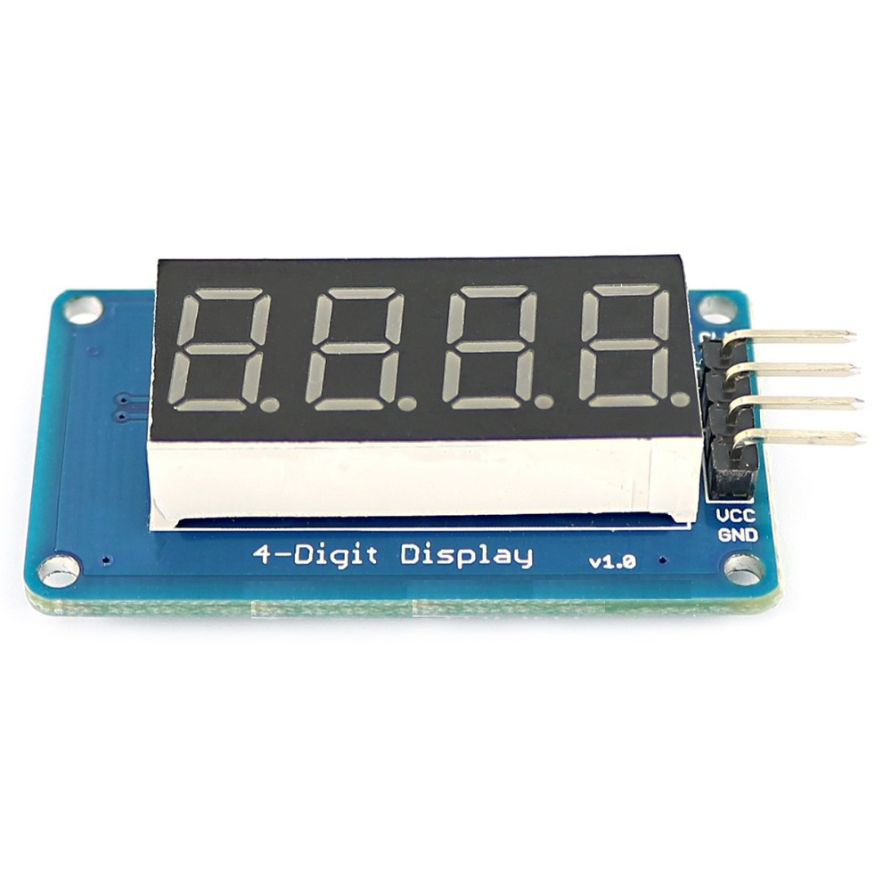 TM1637 4 Bits Digital LED Display Module For arduino 7 Segment 0 36Inch  Clock RED Anode Tube