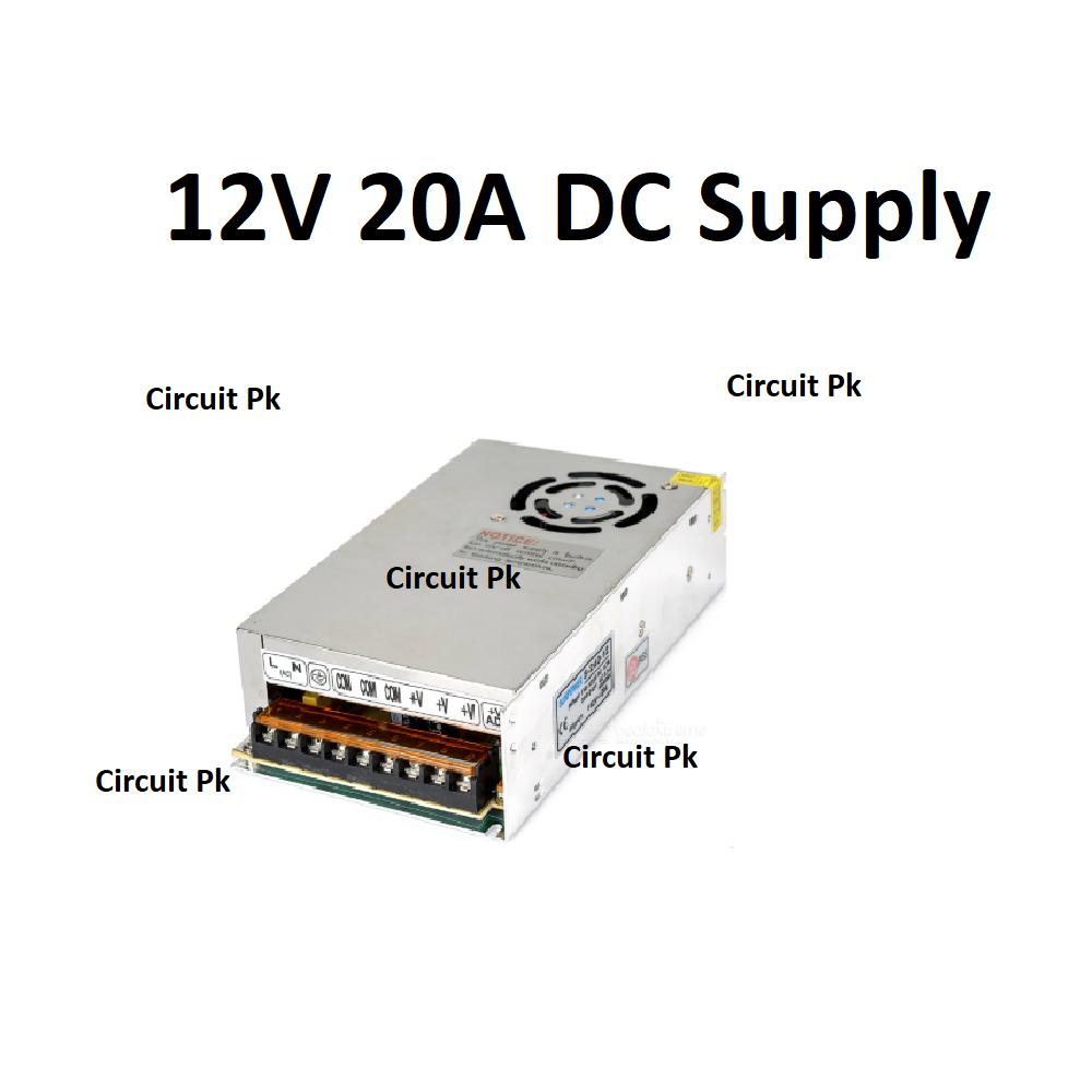 AC 220V to 12V 20A DC Power supply for 3d printers CNC ...