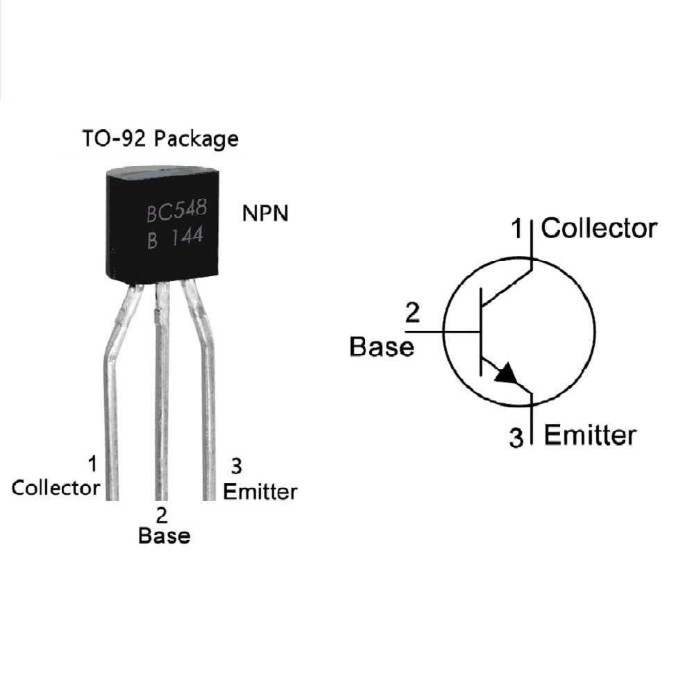 Pack of 10 - BC548 NPN Low Noise Transistor Switching transistor